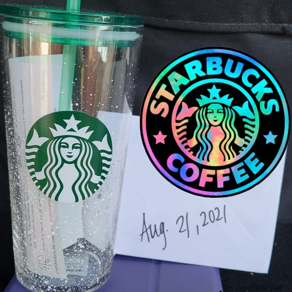 Starbucks Frosted Glass